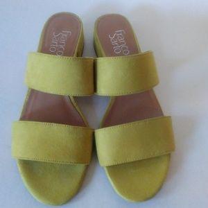 Franco Sarto Silas Suede Slides Sandals 8M